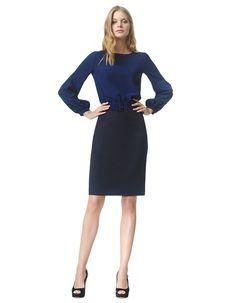 Marion - marine - Koker jurk   LaDress