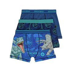 Blue Jurassic World Trunks 3 Pack | Kids | George
