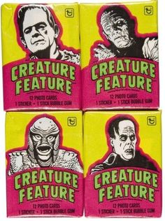 Remember bubble gum cards? I got a pack of Ghostbuster ones once...the gum cut my cheek.
