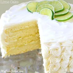 Moist and Delicious Lime Cake From Scratch with Lime Curd and Cream Cheese Frosting! Recipe by MyCakeSchool.com. Online cake recipes, videos, recipes, and more!