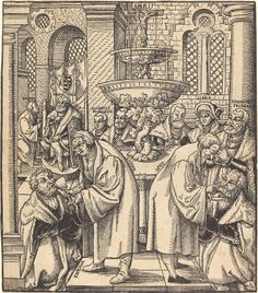 Cranach the Elder, Lucas German, 1472 - 1553 The Reformers Luther and Hus Giving Communion to the Princes of the House of Saxony woodcut image: 28 x 24.5 cm (11 x 9 5/8 in.) Hollstein, undescribed, State ? Rosenwald Collection1954.12.226