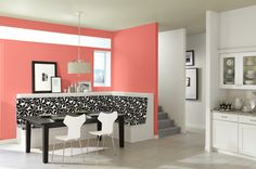 Using Coral Reef color in a dining space.