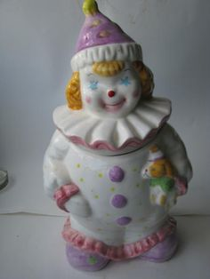 Clown with a puppy Cookie Jar