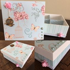 Diy And Crafts, Arts And Crafts, Vintage Country, Scrapbooking, Ideas Para, Projects To Try, Decorative Boxes, Shabby Chic, Crafty