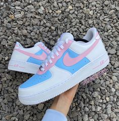 Nick Shoes, On Shoes, Air Force One Shoes, Nike Air Force, Custom Shoes, Custom Af1, Trans Flag, Custom Air Force 1, Nike Air Shoes
