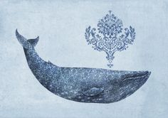 Damask Whale for Joseph