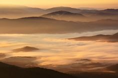Bieszczady o wschodzie słońca