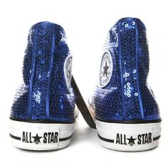 Sequined hi-top Chucks. Sweet! I could imagine these in Studio 54!