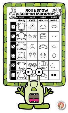 Roll & Draw a Scared Monster