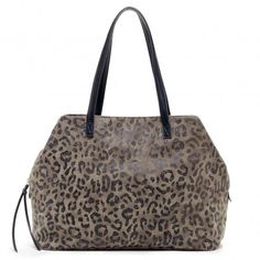 Leopard Taupe Printed Oversize Tote | Millie | Free Shipping on Orders $50+