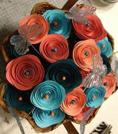 Paper flowers. Great centerpiece - zicki creates