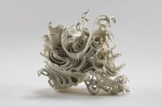 wire sculpture   Porcelain skull sculptures by Katsuyo Aoki » Lost At E Minor: For ...
