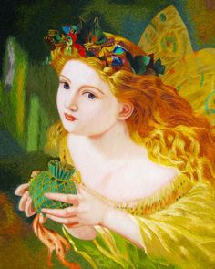 """Fairy and Butterflies-Anderson #Handmade #Silk #Embroidery #Art 75102 http://www.queensilkart.com/100-handmade-embroidery-framed-people-fairy-and-butterflies-anderson-75102/ This inspiration for this Susho was """"Take the Fair Face of Woman, and Gently Suspending, With Butterflies, Flowers, and Jewels Attending, Thus Your Fairy is Made of Most Beautiful Things, Charles Ede"""" - painted by Sophie Gengembre Anderson."""