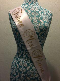 Custom Bachelorette sash  Future Mrs sash  by SassySashSashes