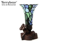 Terrybear Blue Floral Keepsake Lamp. This Keepsake can hold a small amount of cremated remains.