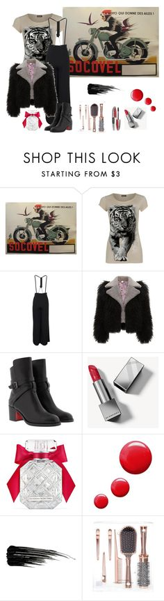 """""""Whoosh!"""" by sunnyjuke ❤ liked on Polyvore featuring WearAll, Christian Louboutin, Burberry, Victoria's Secret, Topshop, Urban Decay and L'Oréal Paris"""