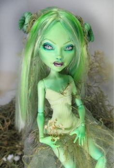 Monster High OOAK Goth Art Doll Repaint by Nickii Rose