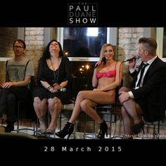 The cast of the 28 March 2015 edituon of The Paul Duane Show: Levi Rounds, AJ Rasmussen, Kendra Sunderland, Paul Duane. Thank you, everyone, for a most memorable night! — at Photo Collective Studios.