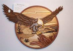 Scroll Saw Intarsia Patterns Rockler Woodworking, Popular Woodworking, Woodworking Projects For Kids, Wood Projects, Woodworking Crafts, Bois Intarsia, Intarsia Patterns, Wood Mosaic, Intarsia Woodworking