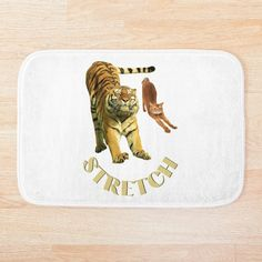Small Cat, Stretching Exercises, Foam Cushions, Bath Mat, My Arts, Art Prints, Printed, Cats, Awesome