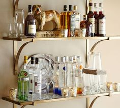 Brass shelf | Pottery Barn $269