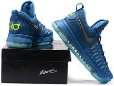 48b9d9645937 Nike Zoom KD 9 Lmtd EP Mens Basketball Shoes Blue jade Kd Shoes