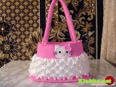 Crochet Purses how to crochet hello kitty purse bag free tutorial pattern - Mala Hello Kitty, Crochet Hello Kitty, Hello Kitty Purse, Crochet Girls, Crochet For Kids, Crochet Baby, Crochet Woman, Crochet Ideas, Baby Knitting