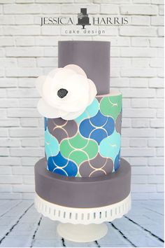 Scales Like Tiles Cake Template - 3 Designs - Jessica Harris Cake Design