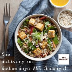 Thats right. Now Foodery customers can eat fresh all week long. Get a delivery Sunday night to start your week eating right. Get another delivery Wednesday and keep eating well the rest of the week. Locally sourced nutritionally balanced blissfully convenient. #eatBoston #wellFed #LocalFood #BostonMealDelivery