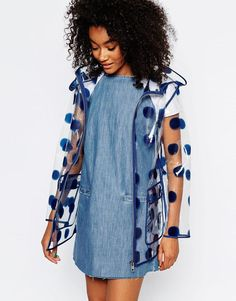 ASOS | ASOS Rain Mac In Spot Print at ASOS