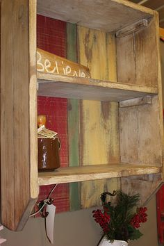 rustic shelf  Visit & Like our Facebook page: https://www.facebook.com/pages/Rustic-Farmhouse-Decor