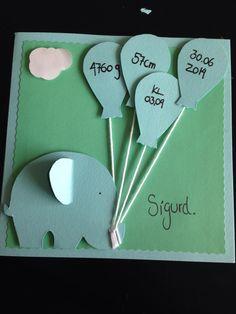 Som inspiration til en kage Cute Cards, Diy Cards, Baby Crafts, Diy And Crafts, Baby Barn, Baby Christening, Baby Scrapbook, Baby Boy Rooms, Creative Cards