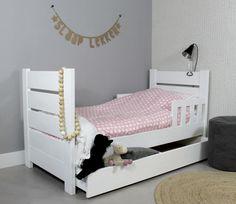 PEUTERBED CHARLIE / LOLA 70x150 (in wit + lattenbodem + speelgoed opberglade)