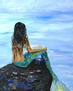 Hey, I found this really awesome Etsy listing at https://www.etsy.com/listing/180448791/mermaid-wall-art-woman-art-print-giclee