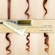 The TYME Iron: Curl or Straighten Your Hair in Less TYME! Once the price goes down though. Curl Styles, Hair Styles, Best Hair Straightener, Natural Wavy Hair, Healthy Hair Tips, Hair Beauty, Beauty Tips, Beauty Products, Hair Products