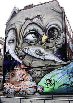 Artist  Dalata Rotterdam Netherlands...fish around the corner...