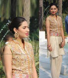 Mahira Khan's Interview In India Lucknow....wearing Sania Maskatiya