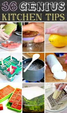 The BEST list of kitchen tips and tricks! I didn't know about most of these.