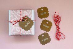 XOXO gift tags