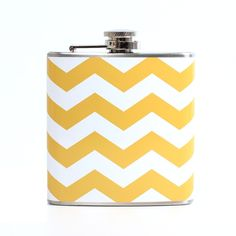 Chevron Stripe Flask Yellow - I need this.