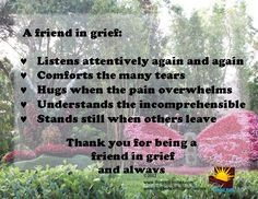 Friends are an important tool in grief. Keep them close and let them know that they are appreciated | The Grief Toolbox