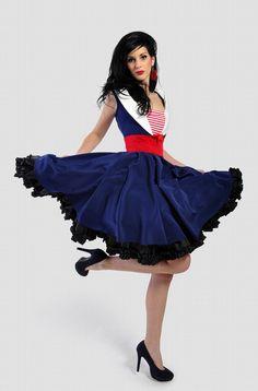 Rockabilly Navy Sailor dress via Etsy.