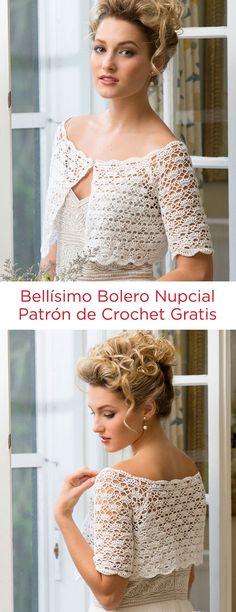 Bellísimo Bolero Nupcial Instrucción a Gancho