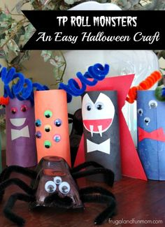 Wanting to create a fun homemade Halloween project using items that you have on hand? Toilet paper cardboard tubes are something I have an endless supply of, so after some thought my kids and I dec...