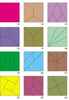 Teilungen des Quadrats. Ein Nikitin-Material, das in der Tradition Fröbels steht.