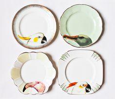 дизайнерская посуда с животными