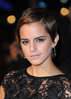 Emma Watson's pixie cut - Might have to do something crazy with my hair after the wedding, this may be it!