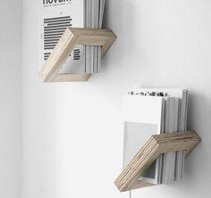 aus Sperrholz mit 45° Neigung ideal für Bücher