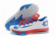 "f28b32d24229 Discover the Nike Kevin Durant KD 6 VI ""Paris"" White Blue Red For Sale  Cheap To Buy collection at Pumarihanna. Shop Nike Kevin Durant KD 6 VI  ""Paris"" White ..."
