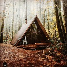 Simplify with a tiny house in the woods. #tinyhouse #outdoors